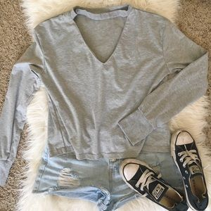 Casual choker shirt